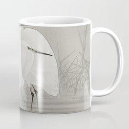 Egrets in swamp - Japanese vintage woodblock print Coffee Mug