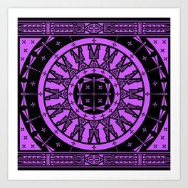 Ancestors (Black Lavender) Art Print