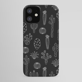 Cactus Silhouette White And Black iPhone Case