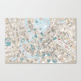 Map of Rome Canvas Print