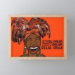 La Reina Celia Cruz Framed Mini Art Print