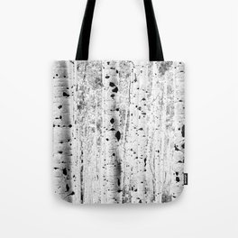 Black and White Aspens Tote Bag
