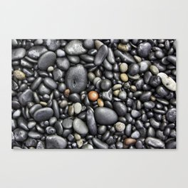 Blacksand Beach Rocks Canvas Print