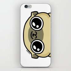 Mochi the pug loves you iPhone Skin