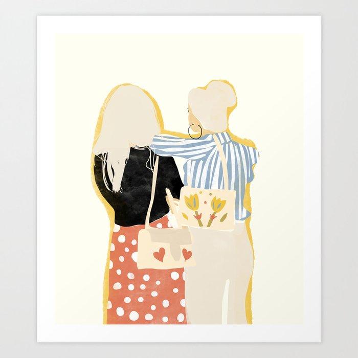 Fashion Friends Art Print