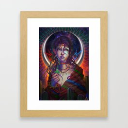 Moon Woman Framed Art Print
