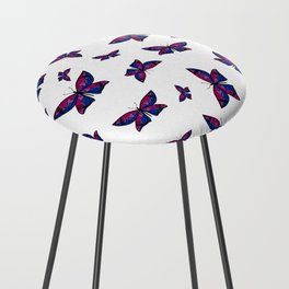 Fly With Pride: Bisexual Flag Butterfly Counter Stool