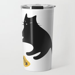 Black Cat Knows You Have More Travel Mug