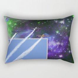 Beyond The Blue Yonder Rectangular Pillow