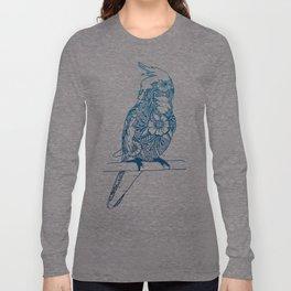Henna Cockatiel - White background Long Sleeve T-shirt
