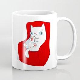 Kitty Loves Tea Coffee Mug