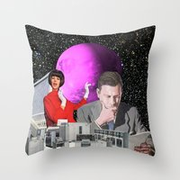 computer Throw Pillows featuring Computer Life by TRASH RIOT