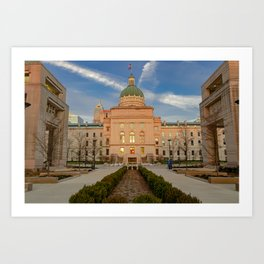 Indianapolis State Capitol Buliding Art Print
