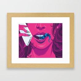 Monster Girl Framed Art Print