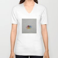 happiness V-neck T-shirts featuring Happiness by Michael Creese