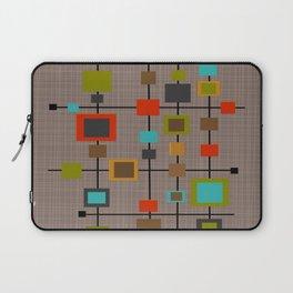 Mid-Century Modern Squares Pattern Laptop Sleeve