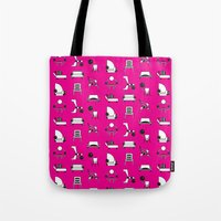 memphis Tote Bags featuring Memphis by Yuki Chen