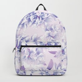 Floral pattern in pink and blue Backpack
