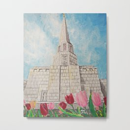 Preston England UK LDS Temple Metal Print