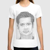 brad pitt T-shirts featuring Brad Pitt by Feroz Bukht