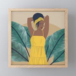 Sun Dress Framed Mini Art Print
