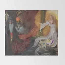 Odin & Frigg Throw Blanket