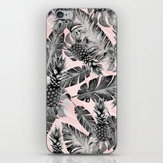 Leaves and pineapples pattern iPhone & iPod Skin