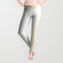Papaya whip pink - solid color - white vertical lines pattern Leggings