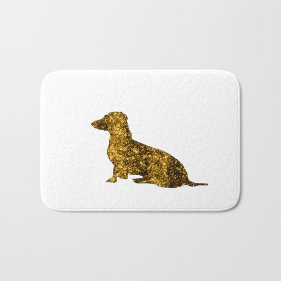 I LOVE my Dachshund - Luxury glitter dog Bath Mat