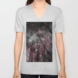 Black Tress Pink & Gray Space Unisex V-Neck