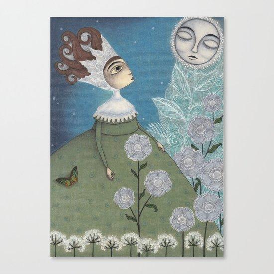Soon, soon, Winter Moon! Canvas Print
