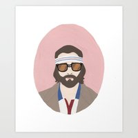tenenbaum Art Prints featuring Richie Tenenbaum by Salome Papadopoullos