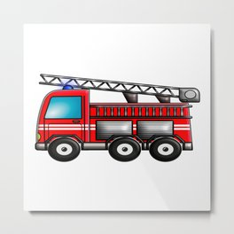 Fire engine Metal Print