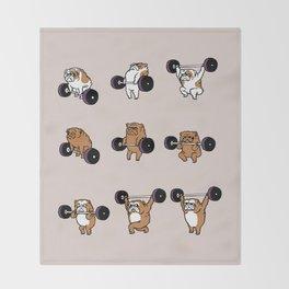 OLYMPIC LIFTING English Bulldog Throw Blanket