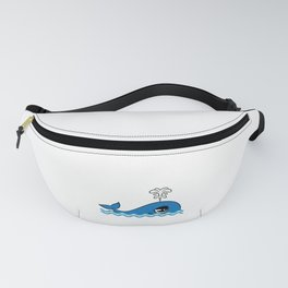 """Cute and adorable """"Comic Whale"""" tee design for you and your friends! Give the best tee this holiday! Fanny Pack"""