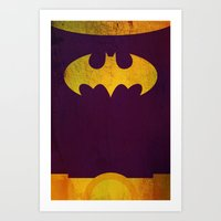 batgirl Art Prints featuring Batgirl by Fries Frame