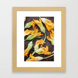Zucchini Blossoms Framed Art Print