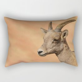 Desert_Bighorn_Sheep Portrait - Valley_of_Fire_State_Park, Nevada Rectangular Pillow