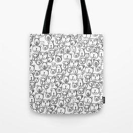 Bears Print by Rachelle Panagarry Tote Bag