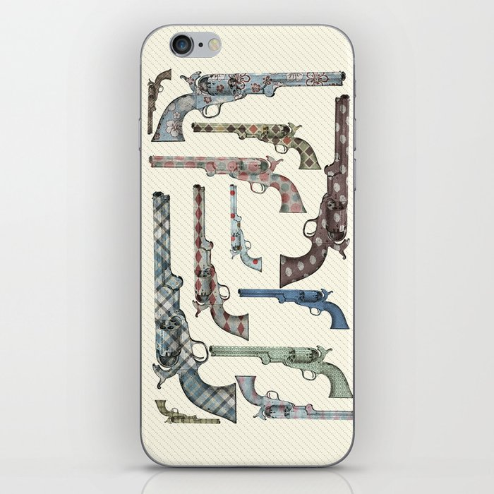 My vintage collection of pistols iPhone Skin