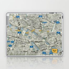 Illustrated map of Berlin-Mitte. Green Laptop & iPad Skin
