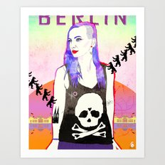 Welcome To BERLIN ||| Willkommen in Berlin Art Print