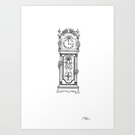 the witching hour. Art Print