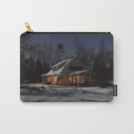 Farm House on a Winter Night Carry-All Pouch