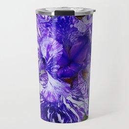 Bearded Blue Iris Travel Mug