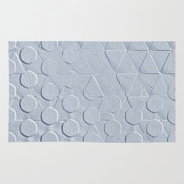 Embossed Geometric Heather Gray Rug
