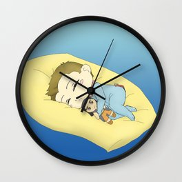 Chibi Agron with Teddy Nasir Wall Clock