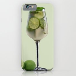 Mojito Lemon Cocktail Drink iPhone Case