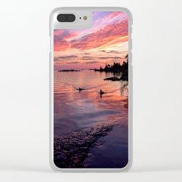 Ducks at Sunrise Clear iPhone Case