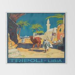Vintage poster - Tripoli Throw Blanket